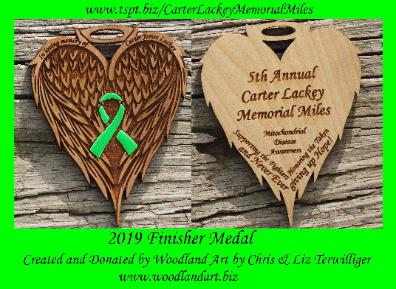 custom wooden medallion laser engraved hand painted carter lackey memorial miles woodland art Chris Terwilliger
